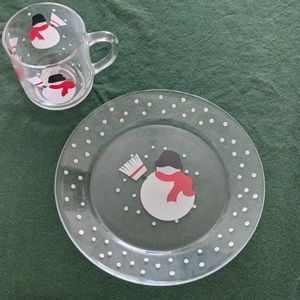 4 piece cup and salad plate